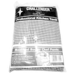 CHALLENGER Xlarge Black And White Elastic Chef Pant