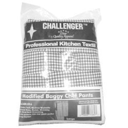 CHALLENGER Large Black And White Elastic Chef Pant