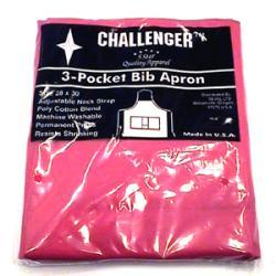 Challenger Red Adjustable Three Pocket Apron