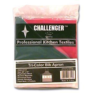 Challenger Red, White And Green Two Pocket Apron