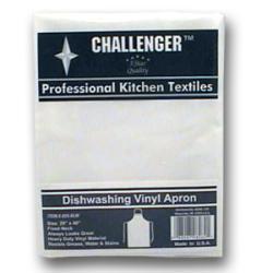 Challenger White Vinyl Diswashing Apron