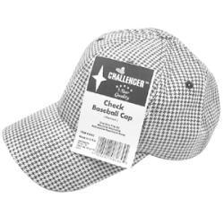 Challenger Black And White Check Baseball Cap