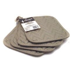 Challenger Pack of 4 Grey Silicone Potholder