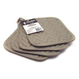 Challenger 4-piece Grey Silicone Potholder Set