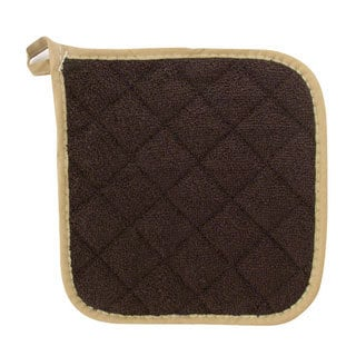 Challenger Brown Terry Cloth Potholder (Set of 2)