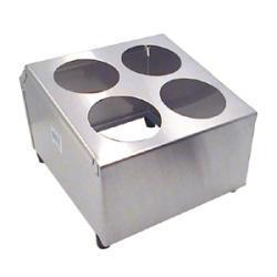 Stainless Steel 4 Cylinder Flatware Holder