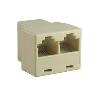 INSTEN RJ45 Light Beige 1x2 Ethernet Connector Splitter