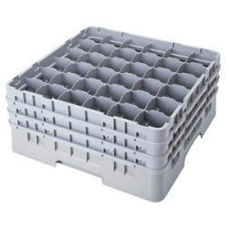 Cambro 36 Compartment Gray Camrack with 1 Extender
