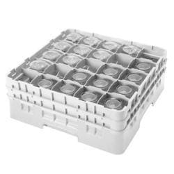 Cambro 25 Compartment Gray Camrack With 4 Extenders