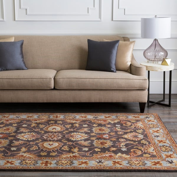 Traditional Hand-Tufted Coliseum Wool Area Rug - 8' x 11'