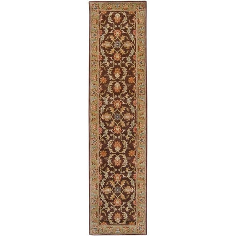 Coliseum Hand Tufted Traditional Border Wool Area Rug