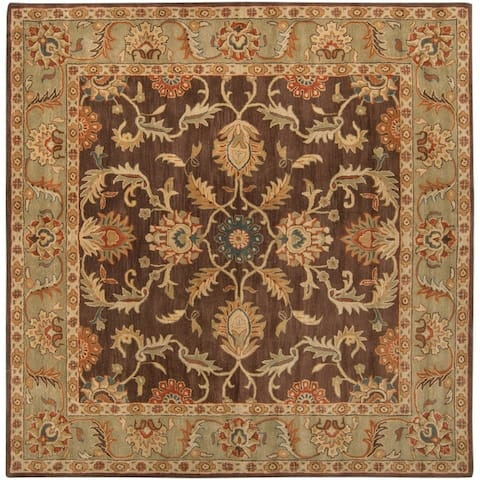 Hand-tufted Coliseum Rust Traditional Border Wool Area Rug