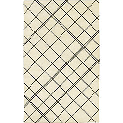 Hand-tufted Contemporary Beige Spirit New Zealand Wool Abstract Rug (8' x 11')