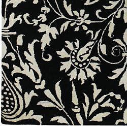 Hand-Tufted Black New Zealand Wool Rug (8' x 11')