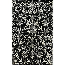 Hand-Tufted Black New Zealand Wool Rug (8' x 11') - Thumbnail 0