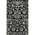 Hand-Tufted Black New Zealand Wool Rug (8' x 11')