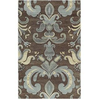 Transitional Hand-Tufted Spirit New Zealand Wool Rug (5' x 8')