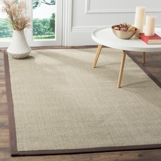Safavieh Casual Natural Fiber Marble and Grey Border Sisal Runner Rug - 2'6 x 8'