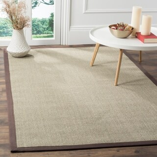 Safavieh Casual Natural Fiber Marble and Grey Border Sisal Runner (2'6 x 8') - 2'6 x 8'