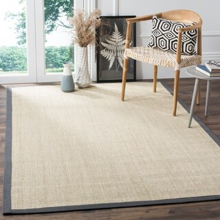 Safavieh Casual Natural Fiber Marble and Grey Border Sisal Rug - 6' x 9'