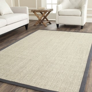 Safavieh Casual Natural Fiber Marble and Grey Border Sisal Rug - 8' x 10'
