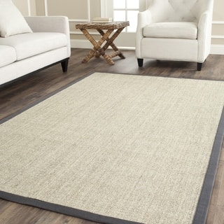 Safavieh Casual Natural Fiber Marble And Grey Border Sisal Rug 8