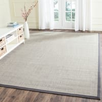 Safavieh Casual Natural Fiber Hand-Woven Serenity Marble / Grey Sisal Rug (9' x 12')