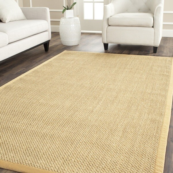 Safavieh Casual Natural Fiber Hand-Woven Resorts Natural / Beige Fine Sisal Rug (4' x 6')
