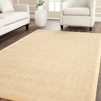 Safavieh Casual Natural Fiber Hand-Woven Resorts Natural / Beige Fine Sisal Rug - 6' x 9'