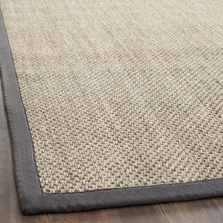 Safavieh Casual Natural Fiber Hand-Woven Resorts Natural / Grey Fine Sisal Rug - 3' x 5'