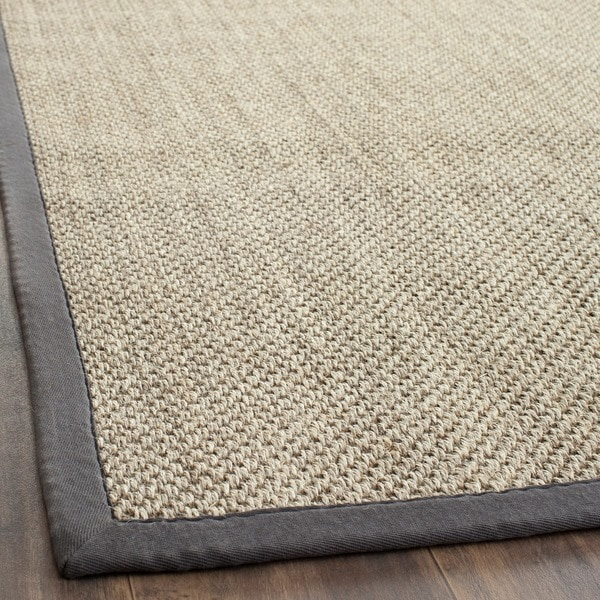Safavieh Casual Natural Fiber Hand-Woven Resorts Natural / Grey Fine Sisal Rug (3' x 5')