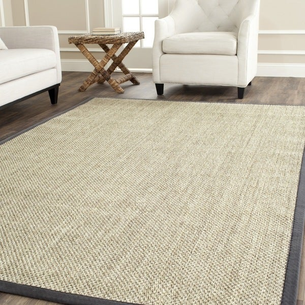 Safavieh Casual Natural Fiber Hand-Woven Resorts Natural / Grey Fine Sisal Rug (6' x 9')