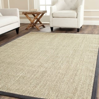 Safavieh Casual Natural Fiber Hand-Woven Resorts Natural / Grey Fine Sisal Rug (8' x 10')