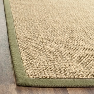 Safavieh Casual Natural Fiber Hand-Woven Resorts Natural / Green Sisal Rug (3' x 5')