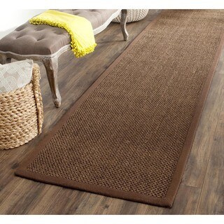 Safavieh Casual Natural Fiber Hand-Woven Resorts Brown Fine Sisal Runner (2'6 x 8')