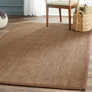 Safavieh Casual Natural Fiber Hand-Woven Resorts Brown Fine Sisal Rug (4' x 6')