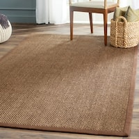 Safavieh Casual Natural Fiber Hand-Woven Resorts Brown Fine Sisal Rug - 6' x 9'