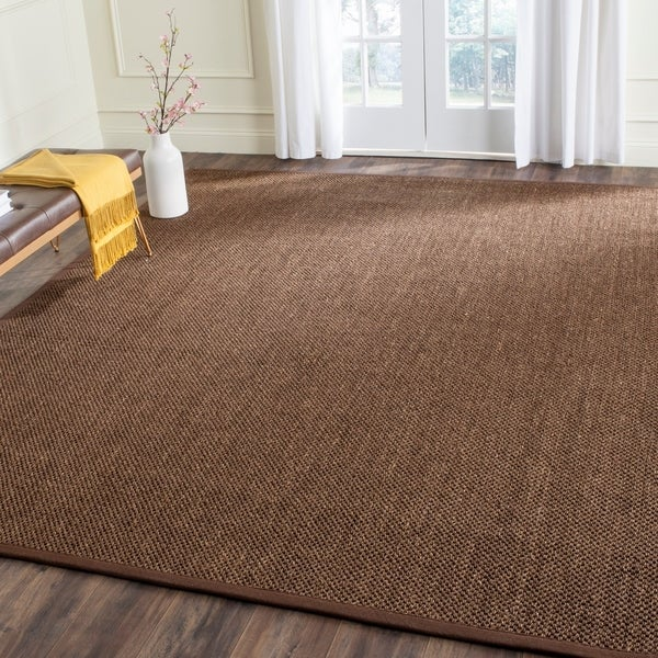 Safavieh Casual Natural Fiber Hand-Woven Resorts Brown Fine Sisal Rug - 9' x 12'