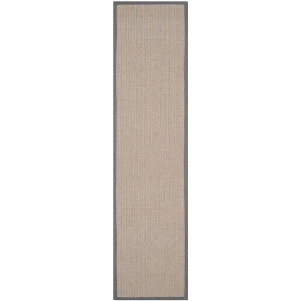 Safavieh Casual Natural Fiber Hand-Woven Uni Grey Fine Sisal Runner (2'6 x 8')