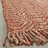 Safavieh Casual Natural Fiber Hand-Woven Arts Natural / Rust Fine Sisal Rug - 3' x 5'