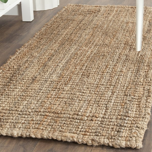 safavieh natural fiber hand woven chunky jute runner rug 2 39 6 x 8 39 free shipping today. Black Bedroom Furniture Sets. Home Design Ideas