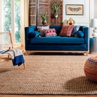 Safavieh Casual Natural Fiber Hand-Woven Natural Accents Chunky Thick Jute Rug - 3' x 5'