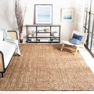 Safavieh Casual Natural Jute Hand Woven Chunky Thick Rug 8