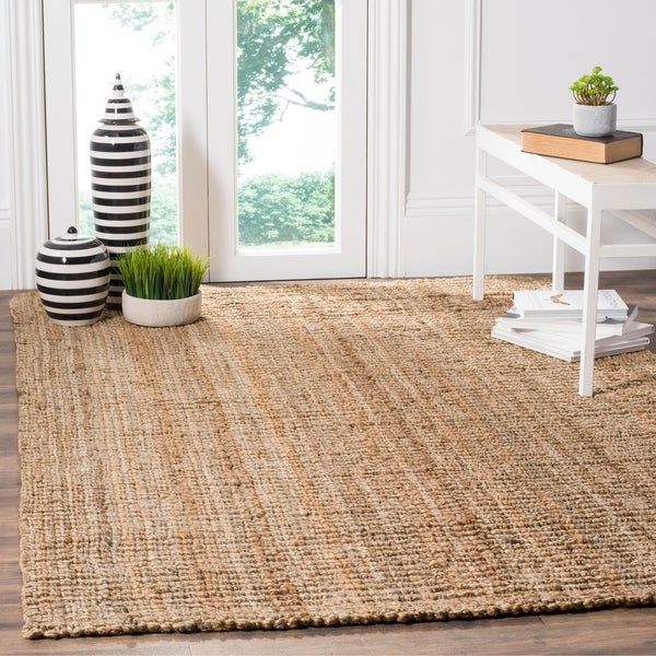 Shop safavieh handwoven casual thick jute area rug 6 39 x for Thick area rugs sale