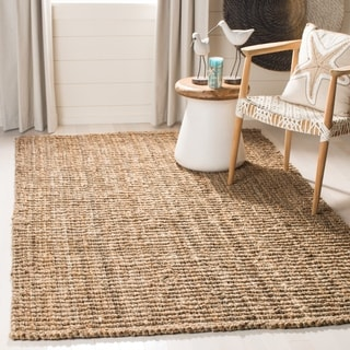 safavieh casual natural jute handwoven chunky thick rug 8u0027 x