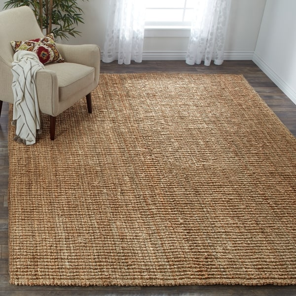 Shop safavieh casual natural fiber hand woven natural for Thick area rugs sale