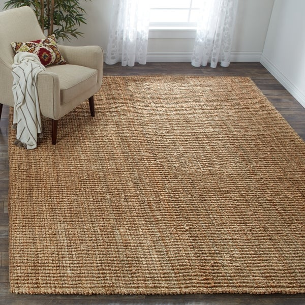 Safavieh Casual Natural Fiber Hand-Woven Natural Accents Chunky Thick Jute Rug - 9' x 12'