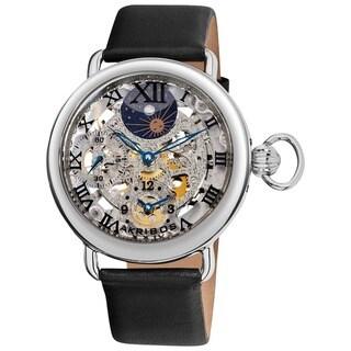Akribos XXIV Men's Dual Time Mechanical Watch