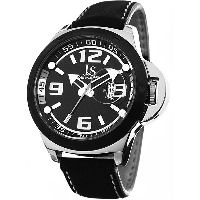Joshua & Sons Men's 'Daredevil' Quartz Black Racer Watch