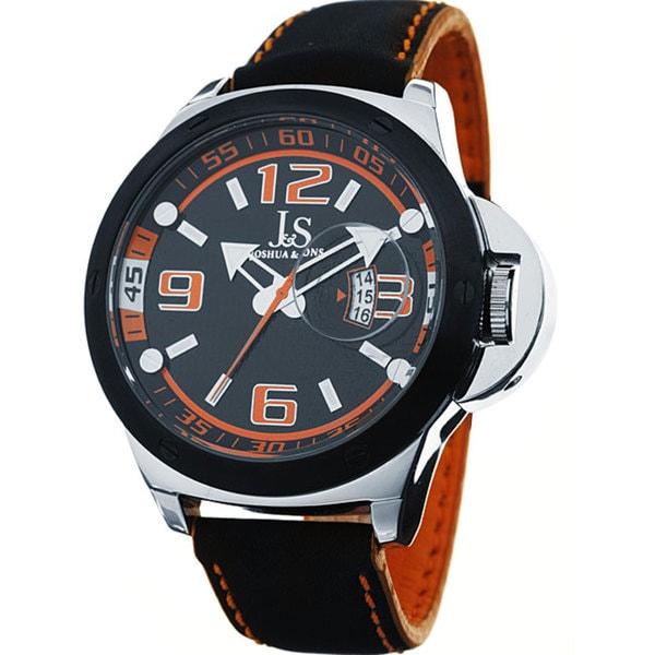 Joshua & Sons 'Daredevil' Men's Quartz Racer Watch